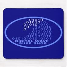 DWSS Logo Mousepad (Arial Bright Blue)