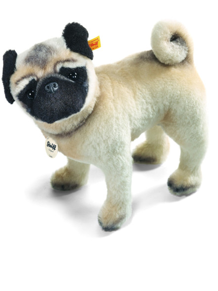 stuffed animal pug stuffed animals pug dog lielou steiff ean 045042 1605