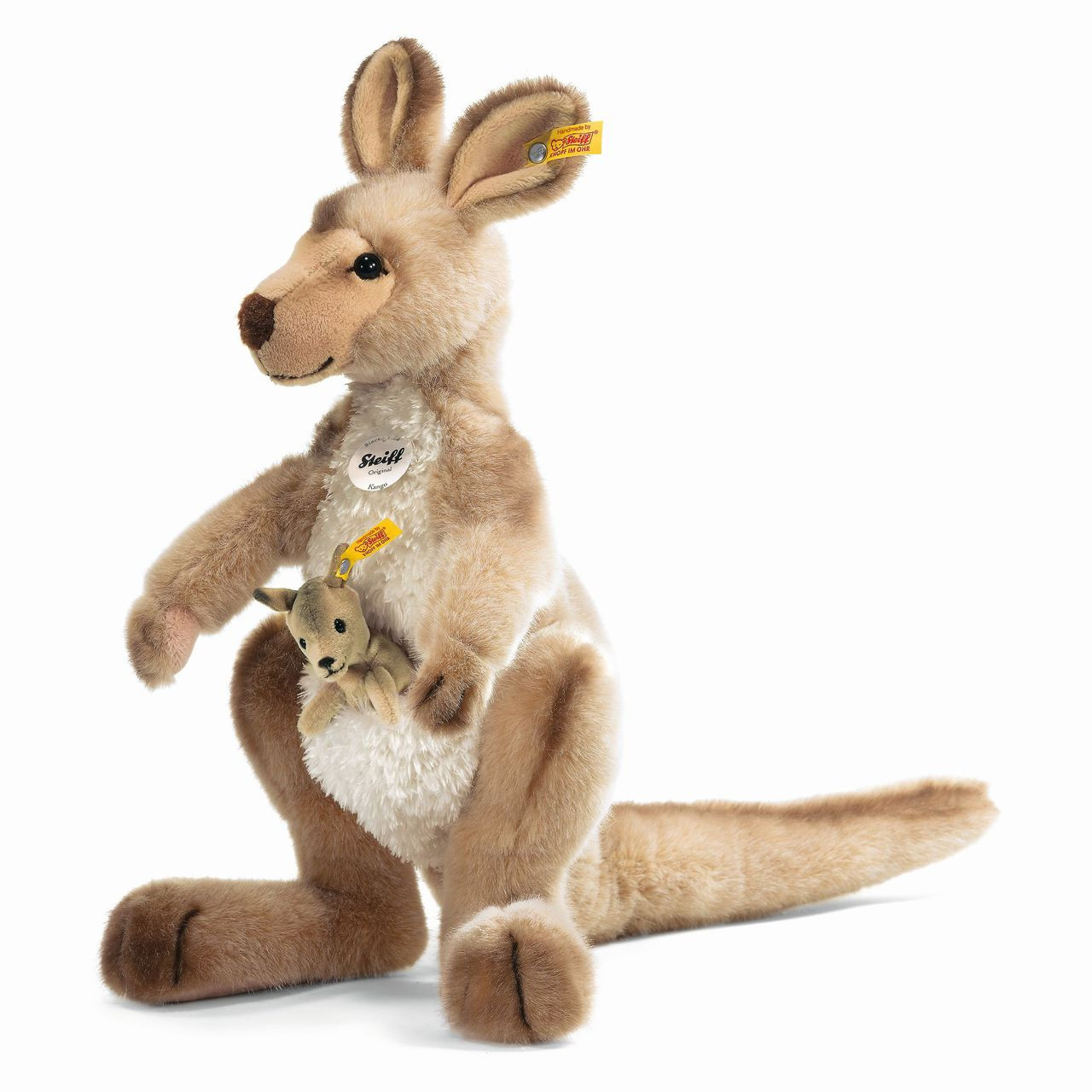 Stuffed Animals Kangaroo Kango With Baby Steiff Ean 064623