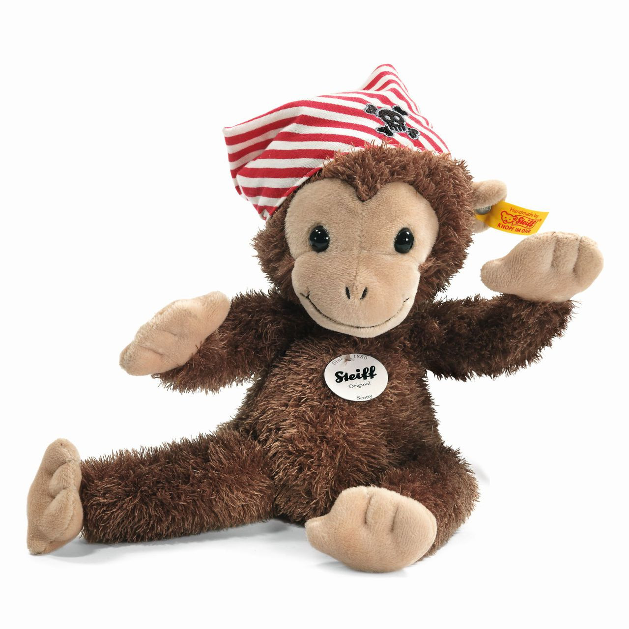 Steiff Jocko Monkey with Music Box for Baby with gift box EAN 240188
