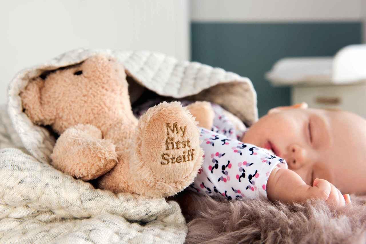 Steiff Baby-M/ädchen Mit S/ü/ßer teddyb/ärapplikation Jacke
