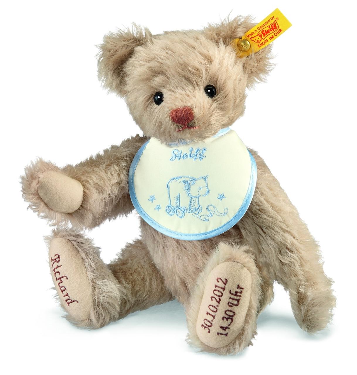 Personalised Baby Bib 1st Birthday Teddy Any name embroidered Birthday Gift