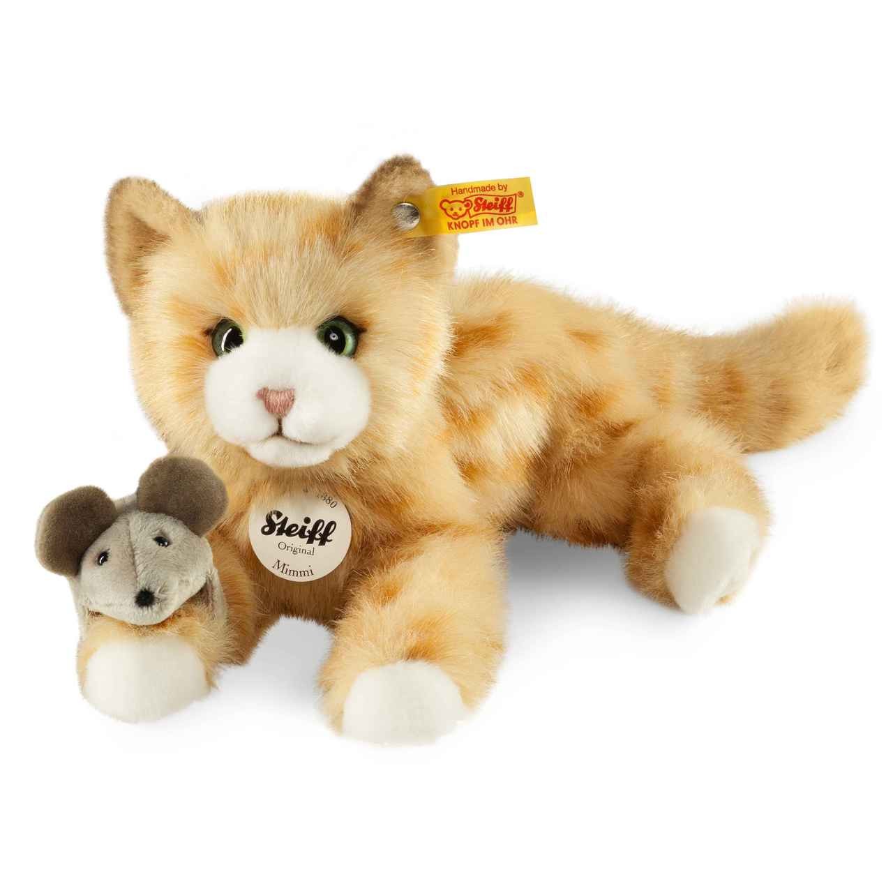 10 Inches Steiff Lizzy Kitten Red Tabby Cat Plush Toy