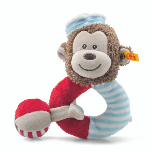 Steiff Sailor Monkey Grip Toy with Rattle EAN 241482