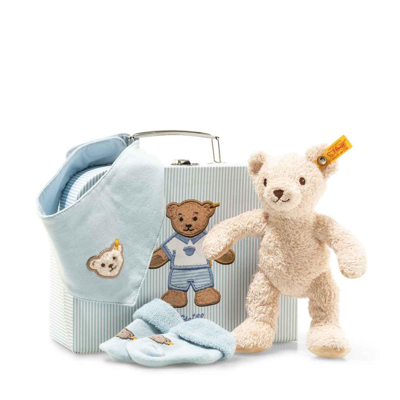 Steiff Unisex Bright White Wei/ß Gr Baby Body 0008733 1//2 Arm Gepunktet 98