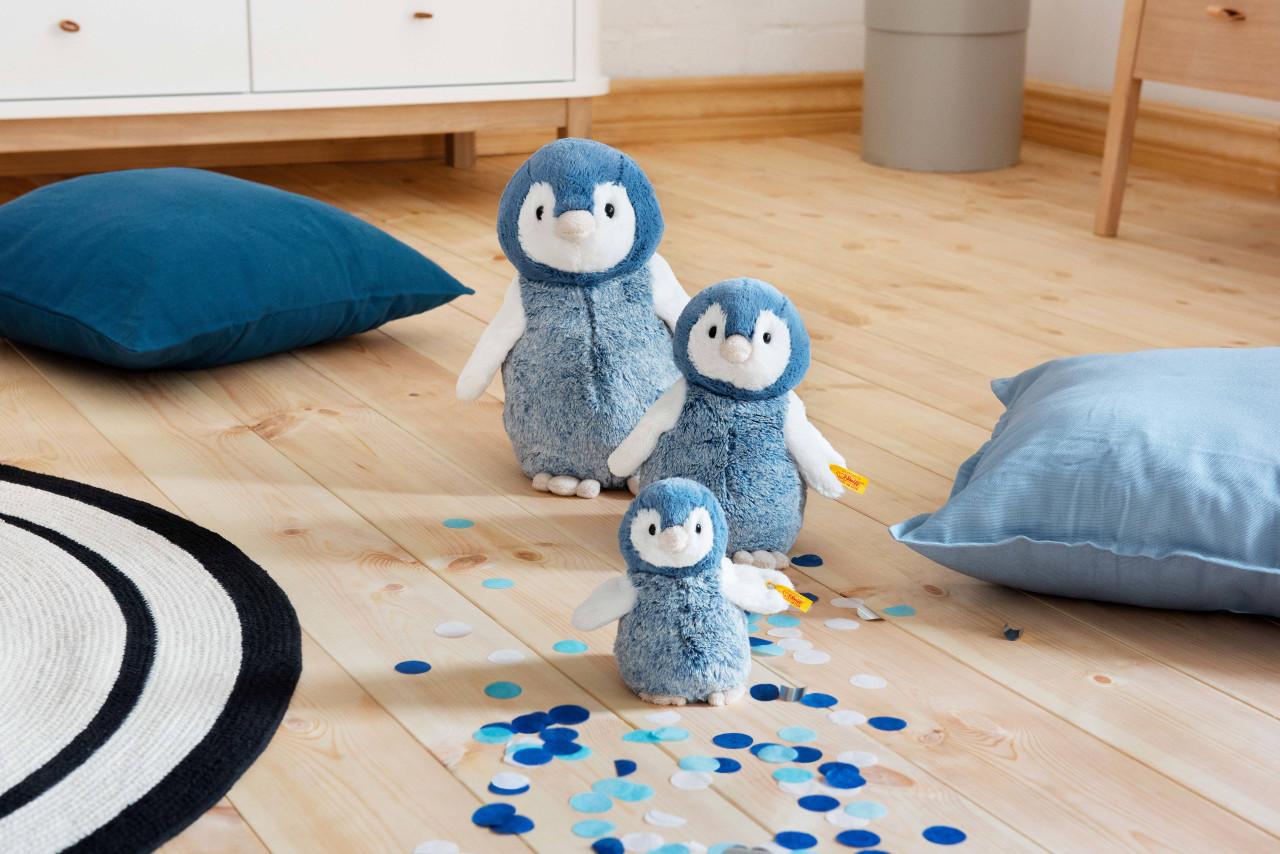 STEIFF Paule Penguin EAN 063930 22cm Blue white Plush soft toy gift New
