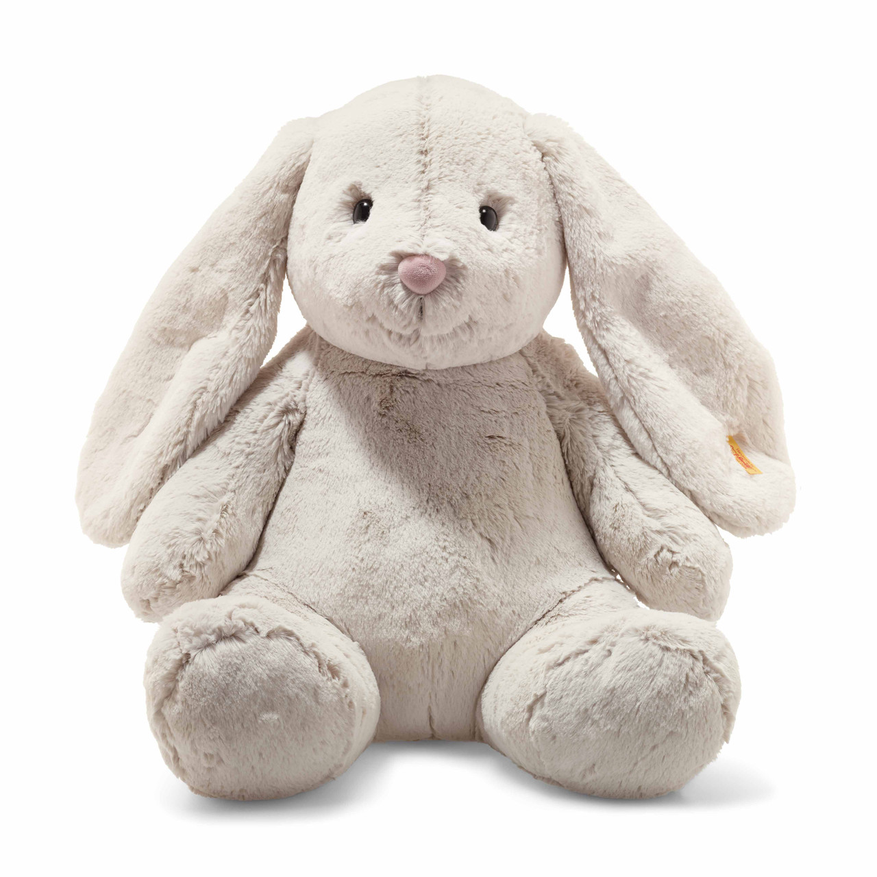 Steiff Hoppel Rabbit Grip Toy Baby Soft Skin Machine Washable MIB 237522
