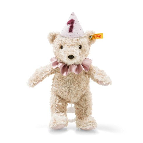 First birthday girl Teddy bear with musical box EAN 240874