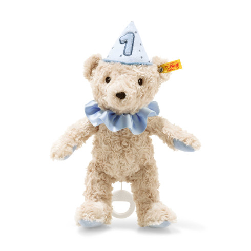 First birthday boy Teddy bear with musical box EAN 240881