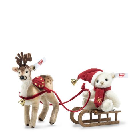 Teddy Bear with Reindeer Sleigh Set EAN 006067