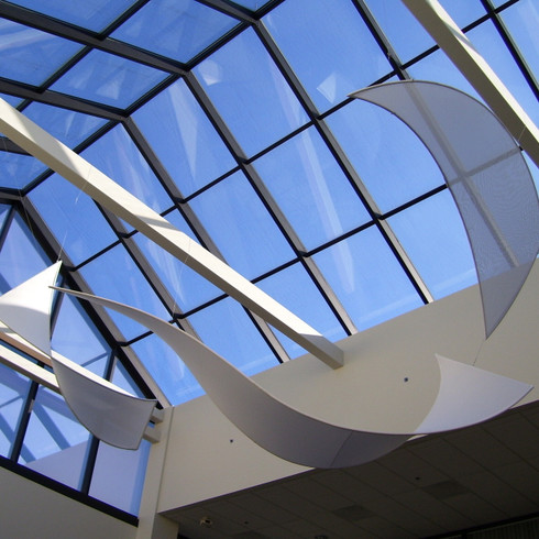 White Ribbons Ceiling Feature