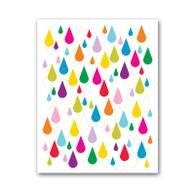 Rainbow Rain Print