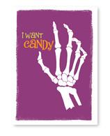 Skeleton Hand Halloween Card