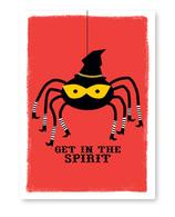 Spider Witch Halloween Card