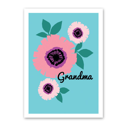 Grandma Bloom - Mother's Day Card by Rock Scissor Paper