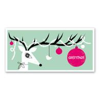Reindeer Greetings Holiday Card by Rock Scissor Paper