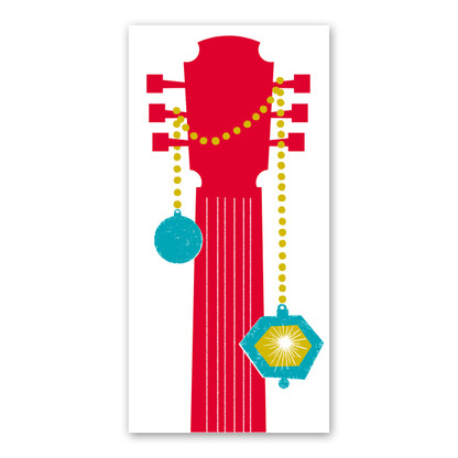 Guitar Neck Holiday Card by Rock Scissor Paper