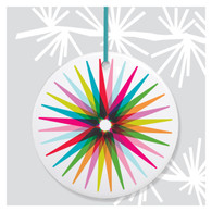 Colorful Starburst Holiday Ornament
