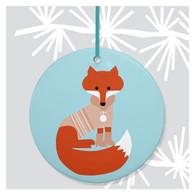 Winter Fox Holiday Ornament