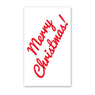 Cursive Merry Christmas Enclosure Cards