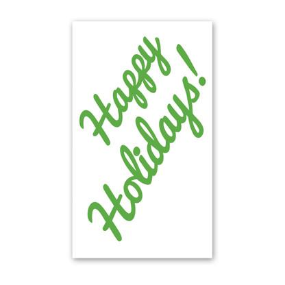Cursive Happy Holidays Enclosure Cards
