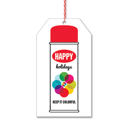 Spray Can Gift Tags