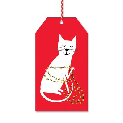 Holiday Kitten Gift Tags