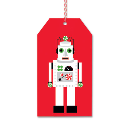 Red Robot Gift Tags