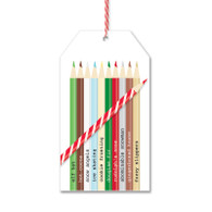 Colored Pencils Gift Tags