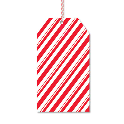 Peppermint Stripe Gift Tags