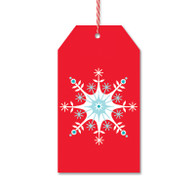 Red Nordic Star Gift Tags