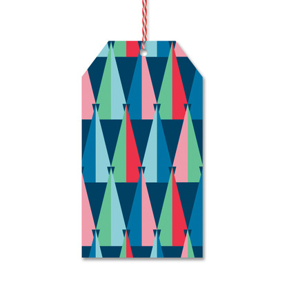 Modern Tree Pattern Gift Tags by Rock Scissor Paper