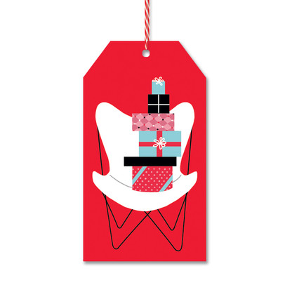 Butterfly Chair Gift Tags by Rock Scissor Paper