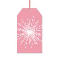 Pink Starburst Gift Tags