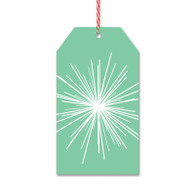 Mint Modern Starburst Gift Tags by Rock Scissor Paper