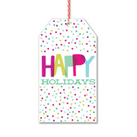 Happy Holiday Dots Gift Tags