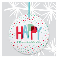 Happy Holidays Dots Ornament by Rock Scissor Paper