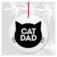 Cat Dad ornament by Rock Scissor Paper