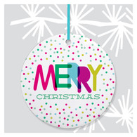 Christmas Dots Holiday Ornament by Rock Scissor Paper