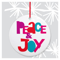 Peace & Joy Holiday Ornament by Rock Scissor Paper