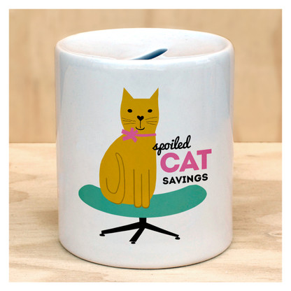 Spoiled Cat Savings Coin Bank by Rock Scissor Paper