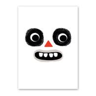 Ghoul Face | Halloween Card | Rock Scissor Paper
