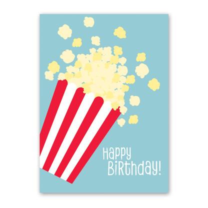 Popcorn Birthday Card by Rock Scissor Paper