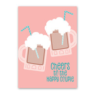 Happy Couple Floats Wedding Card by Rock Scissor Paper