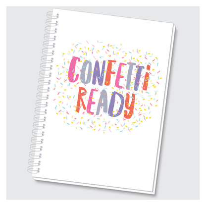 Confetti Ready Journal by Rock Scissor Paper
