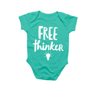Free Thinker Baby Onesie by Rock Scissor Paper