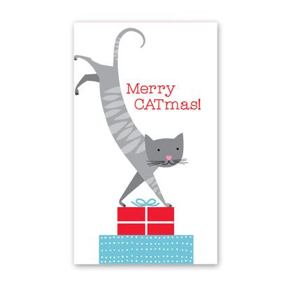 Merry Catmas Mini Card by Rock Scissor Paper