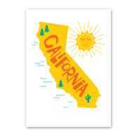 California Note Card