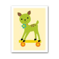Deer Pull Toy Print