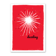 Dazzling Star Holiday Card